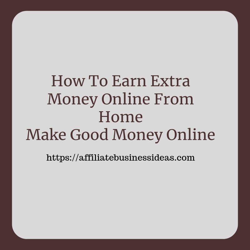 earn extra money online