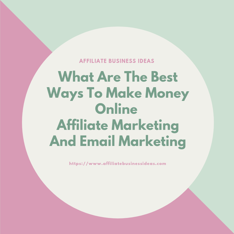 affiliate marketing and email marketing