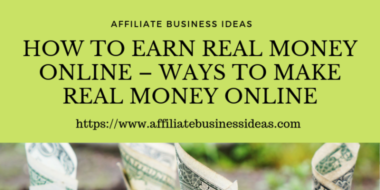 ways to make real money online