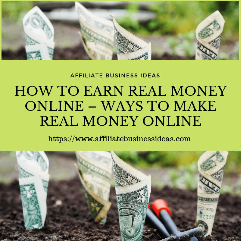 ways to make real money online