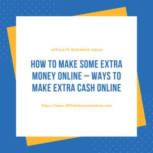 Ways to make extra cash online