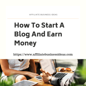 start a blog and earn money