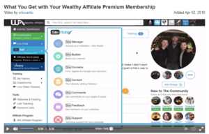 What you'll get with Wealthy Affiliate premium membership