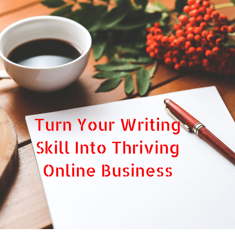 turn your writing skill into thriving online business