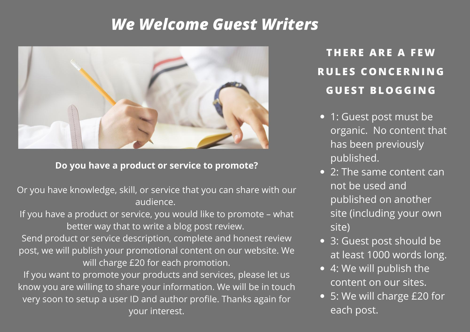 ABI welcome guest writers!